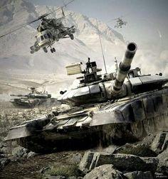 T-90. Mi-8. Russian army