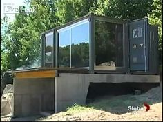 Prefabricated Shipping Container Homes  Amazing Report   8 hour build time after foundation set.