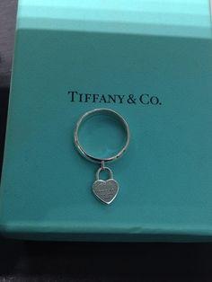 Anello Tiffany con lucchetto cuore