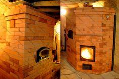 Отопительная печь с варочной камерой и регистром водяного отопления / The heating oven of the cooking chamber and a case of water heating