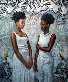 Tim Okamura (born 1968 in Edmonton, Alberta, Canada) is a contemporary Canadian painter known for his depiction of African-American and minority subjects