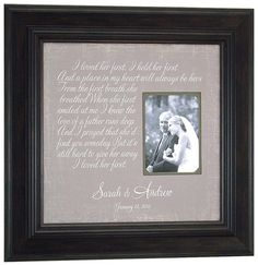To My Parents Personalized Wedding Frame | Parents, Wedding and Gift