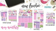 This lovely May View Monthly Free Printable was created using the free digital paper you can find it at Free