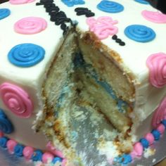 Gender reveal cake. Thanks, Sweet Afternoons!!