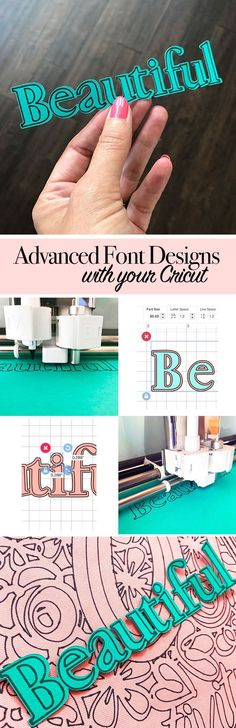 Make advanced font designs with your Cricut!