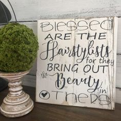 Blessed are the hairstylists for they bring out the beauty in others. No truer words!!!