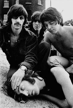Disturbing Beatles photo