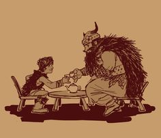 The Vikings Have Their Tea by Luna Kitsune.  I have always wanted this picture... And here it is.