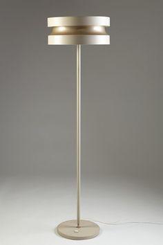 Floor lamp designed by Lisa Johansson-Pape for Stockmann-Orno (enameled steel).