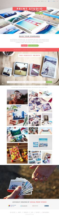 Print Studio - Flat Design #web #ui