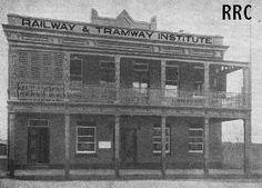 Railway & Tramway Institute building, Market Street, Goulburn (demolished).