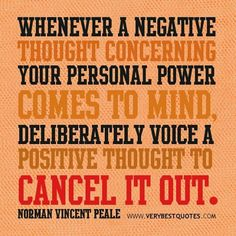 ...positive thought....
