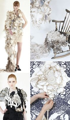 Intricate laser cut textiles - innovative surface design; wearable art; textile techniques // Eunsuk Hur