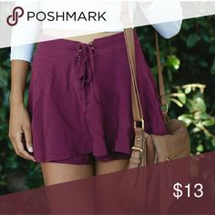 Burgundy Pacsun skort Reposh..  Bought from another seller but they're too small for me  Perfect condition LA Hearts Shorts Skorts