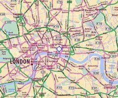 Karte- Stadtplan City of London - ViaMichelin