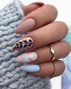 36 amazing natural short almond nails design for fall nails nails . - 36 amazing natural short almond nails design for fall nails nails art ideas # … – 36 amazing na - Classy Almond Nails, Short Almond Nails, Almond Shape Nails, Grey Matte Nails, Purple Nail, Nail Designs Spring, Nail Art Designs, Design Art, Diy Nails