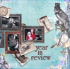 Year in Review right side of double page created with Penny Emporium collection by Teena for BoBunny Club Kits. Visit www.myscrappinsho... to find out more. #BoBunny
