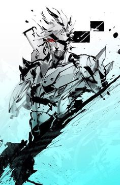 Raiden | Metal Gear Rising | Metal Gear Solid | VK Cry Anime, Anime Art, Game Character Design, Character Art, Metal Gear Survive, Raiden Metal Gear, Metal Gear Solid Series, Metal Gear Rising, Girls Anime