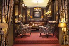 schapenleer sofa bank bibliotheek kamer