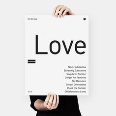 Valentine's gift Kiki Dimoula typography poster by MessProject