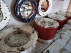 re purposed oil drum furniture