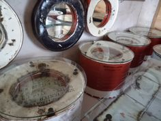 re purposed oil drum furniture