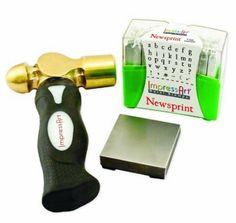 Amazon.com: ImpressArt Metal Stamping Kit- Newsprint Lowercase: Arts, Crafts & Sewing