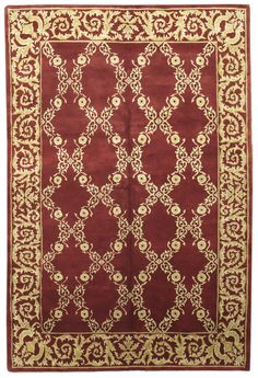 This beautiful Handmade Knotted Rectangular rug is approximately 5 x 8 New Contemporary area rug from our large collection of handmade area rugs with European Savonnerie style from India with Wool