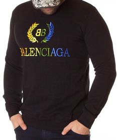 Balenciaga Bluza Logo Printed BB - Neagra | Bluze | Bluze | Brande Balenciaga, Bb, Gucci, Graphic Sweatshirt, Printed, Logos, Sweatshirts, Model, Sweaters