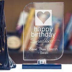 Happy Birthday Crystal Keepsake