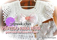 vestido para nena tejido con ganchillo tutorial en video