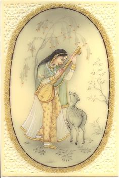 Mughal Paintings, Persian Miniatures, Rajasthani art and other fine Indian paintings for sale at the best value and selection. Rajasthani Painting, Rajasthani Art, Indian Artwork, Indian Folk Art, Mughal Paintings, Indian Paintings, Miniature Portraits, Miniature Paintings, Madhubani Painting