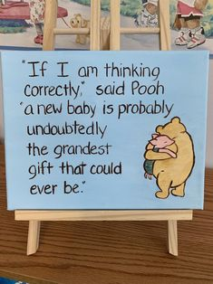 baby quote classic Winnie the Pooh baby nursery art, grandest gift quote for a mom to be Winnie The Pooh Themes, Cute Winnie The Pooh, Winnie The Pooh Nursery, Baby Nursery Art, Vintage Winnie The Pooh, Winnie The Pooh Classic, Baby Shower Quotes, Boy Baby Shower Themes, Baby Shower Gender Reveal