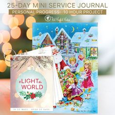 FREE printable #LIGHTtheWORLD journal by The Red Headed Hostess. The young women can accomplish a 10-hour project while having an incredibly Christ-centered Christmas!