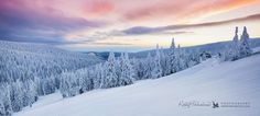 Early winter morning in Jeseniky mountains, Czech Republic. Taken at the sunrise around 7:20.  February 4, 2015
