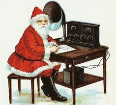 Ham Radio Antique Christmas Card | Ham radio, Antique christmas ...