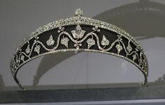 Cartier Ivy Leaf Tiara, circa 1914, of blackened steel and diamonds