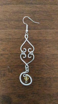 #orecchini #handmade #jewelry #hearts #cuori #giallo #yellow #wire