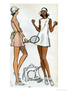 Tennis Dress Patternmaking Illustration Premium Poster