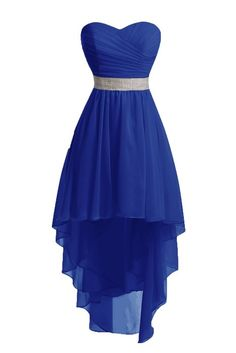 Chengzhong Sun Women High Low Lace Up Prom Party Homecoming Dresses (2, Royal Blue )