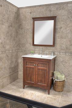 Wood Single Sink Vanity