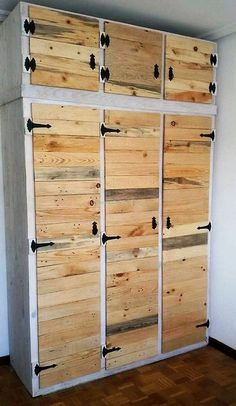 recycled pallet closet idea 2