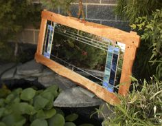 This beautiful handmade mirror was created by Javier Rojas, one of our many skilled craftsmen. The custom made mirror has an intricate rustic frame in… Handmade Mirrors, Mirror Shop, Custom Mirrors, Rustic Frames, Custom Glass, Craftsman, Lighting, Create, Accessories
