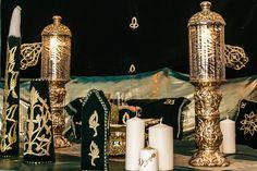 décoration henné, location décoration henné vert et or