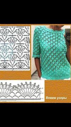 Beach Clothes Crochet Blouse Crochet Top Crochet Patterns Knitting And Crocheting Farmhouse Rugs Stitches Crossstitch Woman Débardeurs Au Crochet, Crochet Tunic Pattern, Beach Crochet, Freeform Crochet, Crochet Woman, Crochet Blouse, Crochet Stitches, Crochet Hooks, Knitting Patterns
