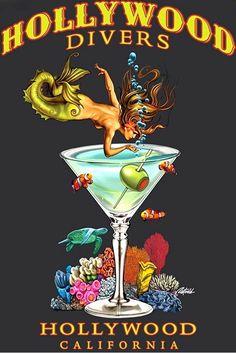 mermaid in a martini glass - Google Search