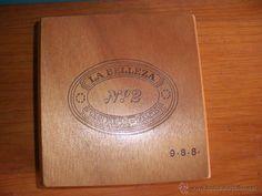 CAJA LA BELLEZA Nº2 GRAN FABRICA DE TABACOS CIGARROS ISLAS CANARIAS