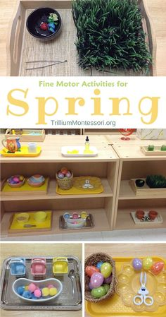 Montessori Fine Motor Activities for Spring