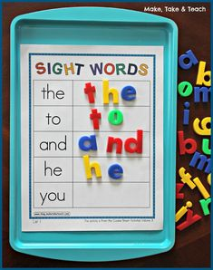 Sheet Bundle for Sight Words, Blends/Digraphs and Word Families Cookie Sheet Activities for learning and practicing sight words. Great hands-on learning!Cookie Sheet Activities for learning and practicing sight words. Great hands-on learning! Kindergarten Centers, Kindergarten Reading, Preschool Learning, Kindergarten Classroom, Classroom Activities, Fun Learning, Activities For Kids, Sight Word Activities, Classroom Decor