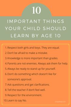 The strength of the building depends on the foundation. Age up to 10 years is a crucial stage for the child to build a strong foundation by learning many things. Ensure that your child is learning good things to become a great successful person in life. #simplylifetips #child #children #kids #toddler #parents #parenting #parentingtips Parenting Hacks, Kids Learning, Your Child, Growing Up, How To Become, Knowledge, Feelings, Children, 10 Years